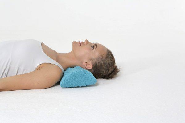 Orthopedic cervical semi-roller pillow